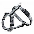 Trixie  12232 Silver Reflect H-hám, S-M, fekete-ezüst