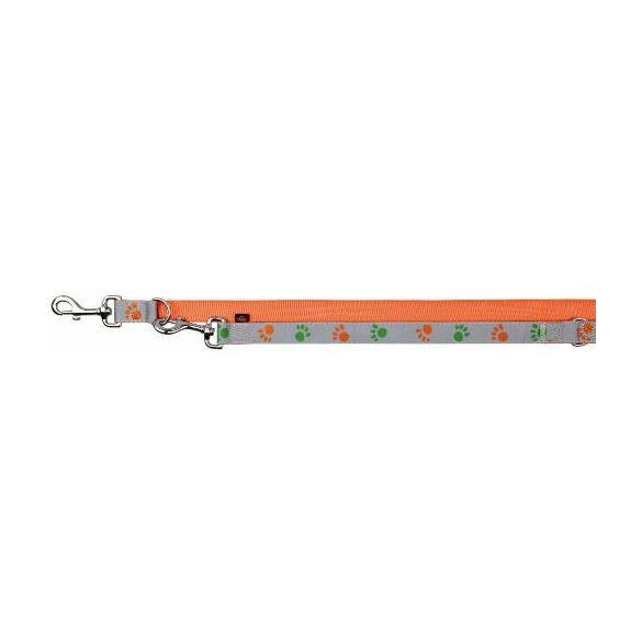 Trixie  12252 Silver Reflect póráz, M-L, narancssárga-ezüst