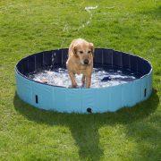 Trixie 39481 Dog Pool kutya medence 80x20cm Kék - Otthoni pancsolás Kedvencednek