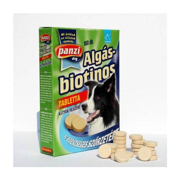 Panzi Vitamin Spirulina/Zöldalga-Biotin Tabletta Kutyáknak 100db/csomag  algás biotinos 300033
