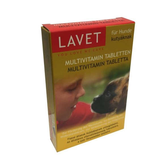 Lavet Vitamin Tabletta Kutyáknak 50db/csomag MULTI