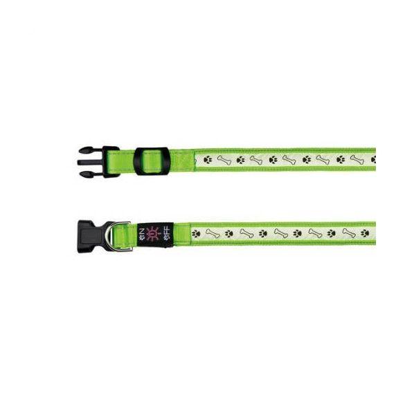 Trixie 13076 Világító nyakörv USB,green M-L