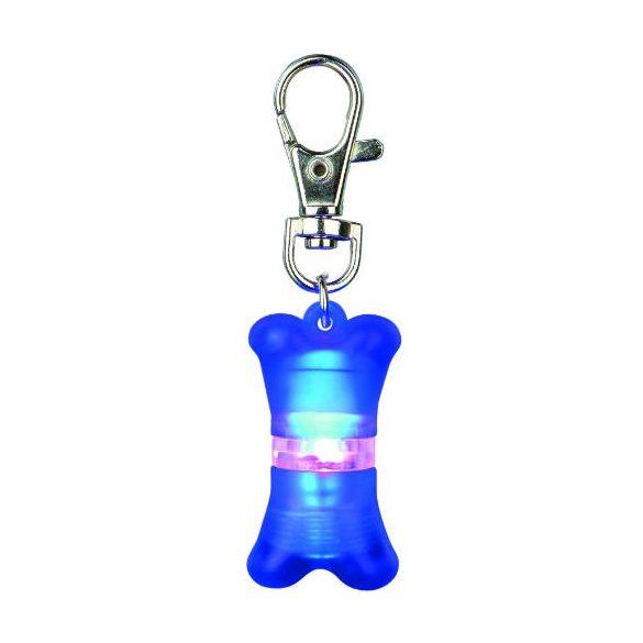 Trixie 13446 flasher címtartóval, 2x4 cm, kék