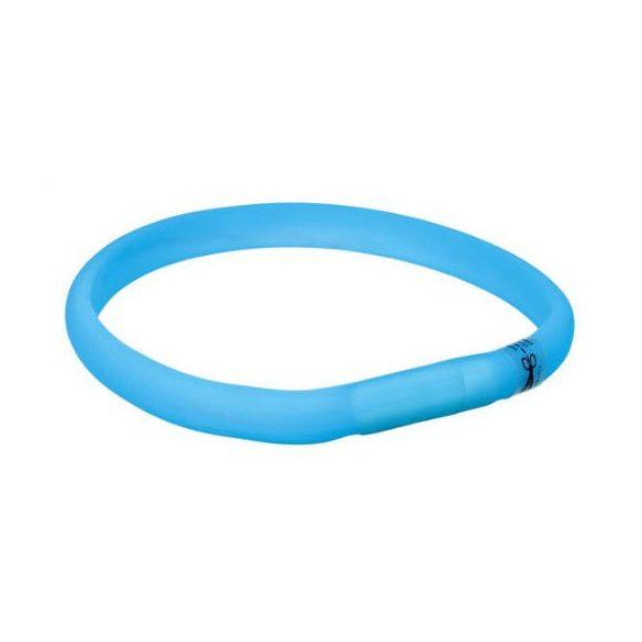 Trixie 12681 Világító pánt USB, M-L, kék