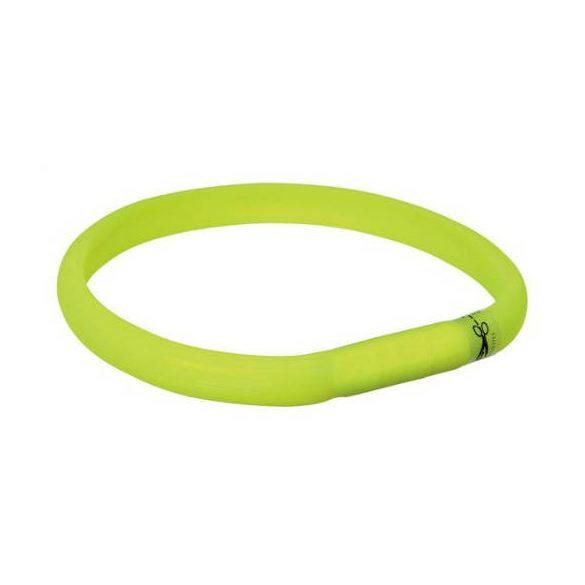 Trixie 12684 Világító pánt USB, M-L, zöld