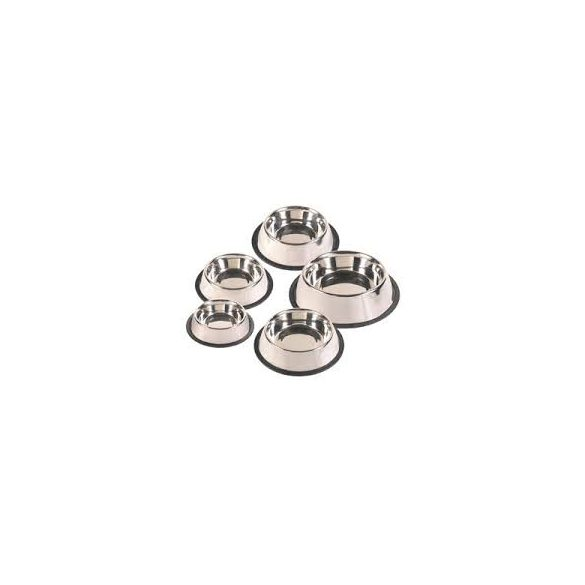 Trixie 24851 rozsdamentes acél tál, gumis, 0.45L