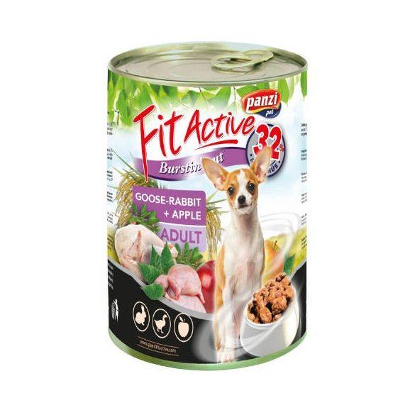 PanziPet FitActive DOG 415g konzerv liba-nyúl-alma