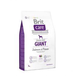 Brit Care Hypoallergenic Giant 3kg Gabonamentes Száraztáp Burgonyás-Lazacos Grain Free Salmon&Potato