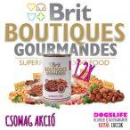 Brit Boutiques Gourmandes Salmon Bits & Paté 12x400gr. - Szuperprémium Lazacos Pástétom