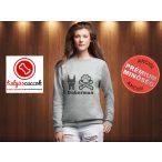 Dobermannos Női pulóver - Doberman Csont és Tappancs mintával