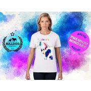 Bulldogos Női Póló - Bulldog Streetwear French BulldogArt Francia bulldog 2. mintával