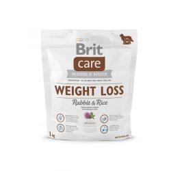 Brit Care Hypoallergenic Weight Loss 1kg Nyulas Rizses Száraztáp Túlsúlyos Kutyáknak Rabbit&Rice