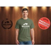 Bulldog Streetwear Férfi Póló - Klasszikus Logó mintával Szín: Military Green