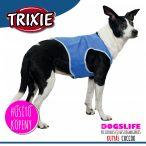 Trixie Hűsítő Köpeny Kék (hűsítő kabát/hűtőkabát/hűtőmellény/hűtőruha) PVA M:30 cm