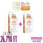 Brit Care Hypoallergenic Száraztáp Adult Medium Breed Lamb&Rice 2x12kg DUPLA CSOMAG Bárányos Rizses Hypoallergén