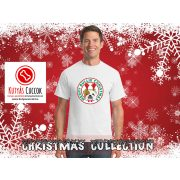 Bulldogos Karácsonyi Férfi Póló - Bulldog Streetwear Merry Bullie Christmas mintával