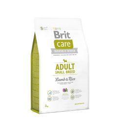 Brit Care Hypoallergenic Száraztáp Adult Small Breed Lamb&Rice 3kg Bárányos Rizses Hypoallergén