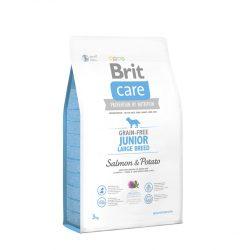 Brit Care Hypoallergenic Junior Large Breed 3kg Gabonamentes Száraztáp Grain Free Salmon&Potato