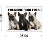 Bulldogos Autóillatosító - Frenchie Car Fresh  95x65mm Kutyás Autóillatosító Több illattal ELŐRENDELÉS!