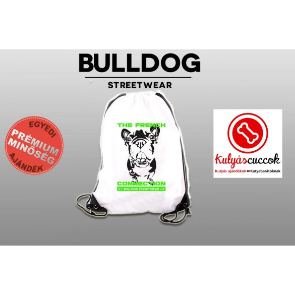 Tornazsák - Bulldog Streetwear The French Connection Neon Green mintával