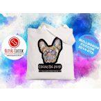 Bulldogos vászontáska Frenchie Mom mintával BulldogArt Kollekció