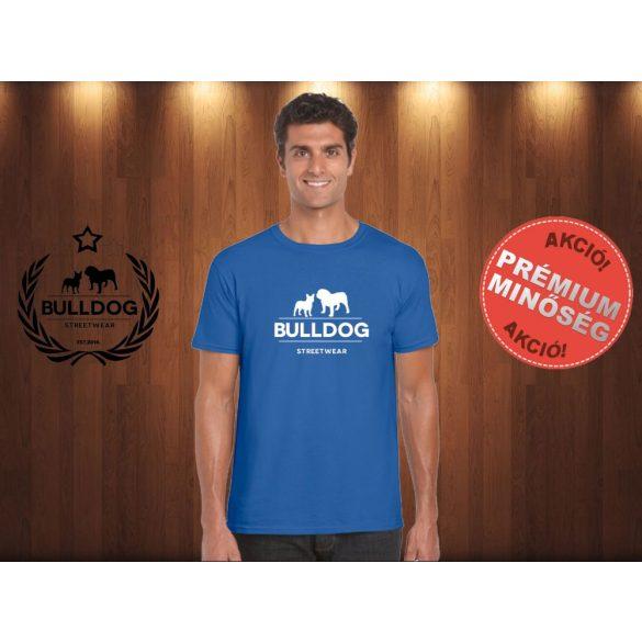 Bulldog Streetwear Férfi Póló - Klasszikus Logó mintával Szín: Royal Blue