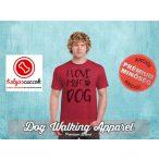 Dog Walking Férfi Póló - I Love My Dog mintával  Minden méretben és több színben
