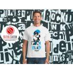 Bulldogos Férfi Póló - Bulldog Streetwear BulldogArt Francia Bulldog Red Glass mintával