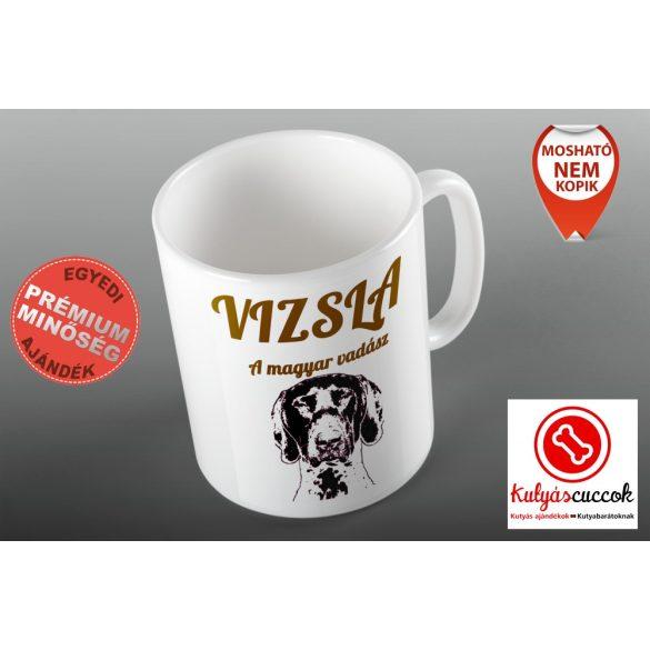 Vizslás Bögre - Vizsla A Magyar Vadász grafikával