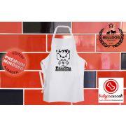 Konyhai Kötény Bulldogos - Bulldog Streetwear I Love Bulldog Francia bulldoggal
