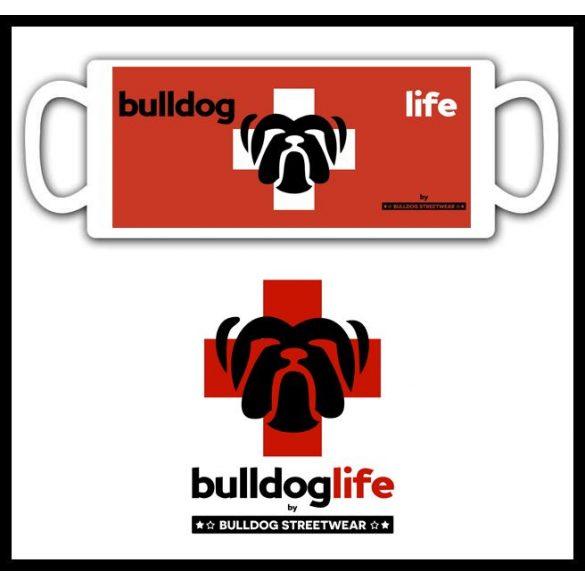 Bulldogos Bögre - Bulldog Streetwear Bulldog Life Fullprint grafikával