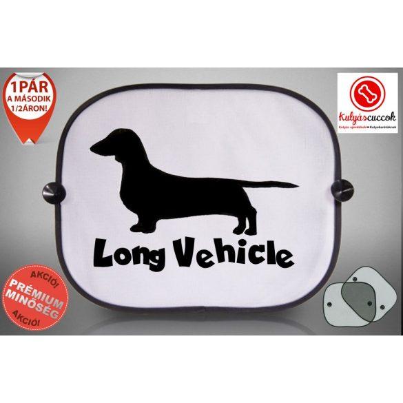 Tacskós Autós Napellenző Napvédő - Tacskó Long Vehicle mintával