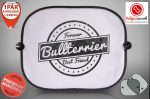 Bullterrieres Autós Napellenző Napvédő - Bullterrier Vintage mintával