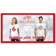 Bulldogos Karácsonyi Férfi Póló - Bulldog Streetwear French Bull Santa mintával