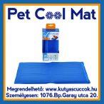 Pet Cool Mat Hűsítő zselés matrac 65x50 cm-es Kék (hűsítő matrac/hűtőmatrac/hűtőtakaró/hűtőpléd) RAKTÁRRÓL!