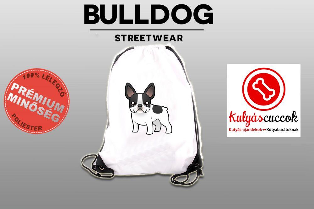 Tornazsák Francia Bulldog Cartoon mintával