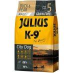 Julius-K9 GF City Dog Adult Duck & Pear 2 zsák 2x10kg + AJÁNDÉK VÁLASZTHATÓ 2.990 FT ÉRTÉKBEN! - Gabonamentes Szuperprémium táp Kacsával és Körtével 10kg.