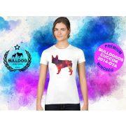Bulldogos Női Póló - Bulldog Streetwear French BulldogArt Francia bulldog Geometric mintával
