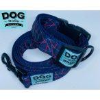 Dog Walking Apparel piros háromszög nyakörv és póráz szett