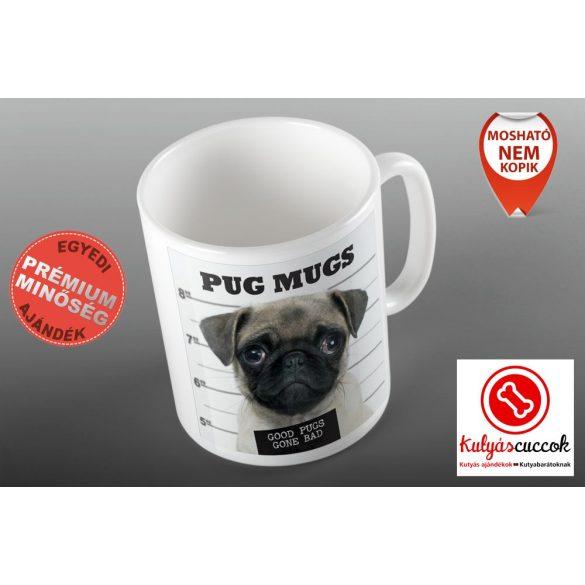 Mopszos Bögre - Mopsz Pug Mugs grafikával