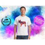 Bulldogos Férfi Póló - Bulldog Streetwear BulldogArt Francia bulldog Geometric mintával