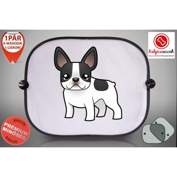 Autós Napellenző - Francia Bulldog Cartoon