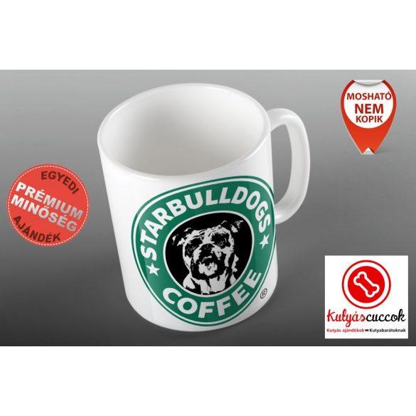 Bulldogos Bögre - Starbulldogs Coffee grafikával