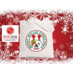 Bulldogos Karácsonyi vászontáska  Merry Bullie Christmas