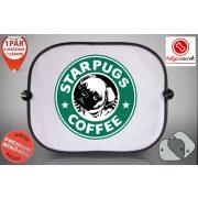 Mopszos Autós Napellenző Napvédő -  Mopsz Starpugs Café 2 mintával