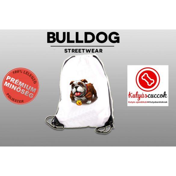 Tornazsák - Bulldog gumikacsával mintával