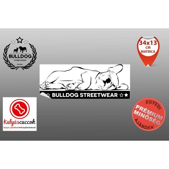 Autós Francia Bulldog Matrica - Bulldog Streetwear Francial Bulldog Minta  30x12cm