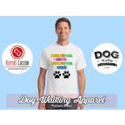 Dog Walking Férfi Póló - A boldog ember pólóján kutyaszőr mintával  Minden méretben
