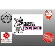 Autós Francia Bulldog Matrica - Bulldog Streetwear Francia Bulldog Minta7  10x15cm