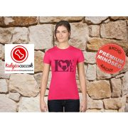 Mopsz Női Póló - Mopsz Love mintával Különböző színekben